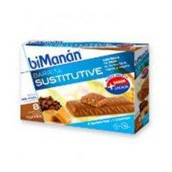 Barritas Sustitutivas Toffee - 8 unidades (Bimanan)