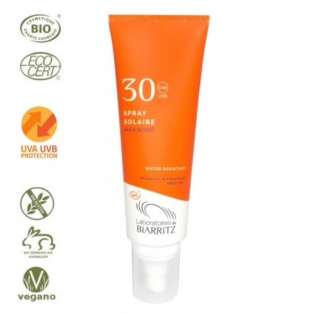 Spray Solar para Cara y Cuerpo Factor 30 - 125ml (Alga Maris. Biarritz)