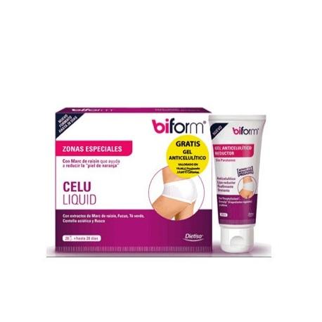 Biform Celu Liquid + Biform Crema anticelulítica un pack que ayuda a reducir la celulitis