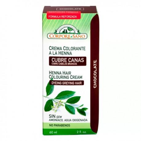 Crema colorante a la Henna (Cubre Canas) Color Chocolate - 60ml