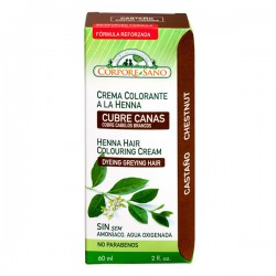 Crema colorante a la Henna (Cubre Canas) Color Castaño - 60ml