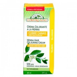 Crema colorante a la Henna (Cubre Canas) Color Rubio - 60ml