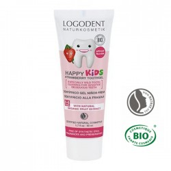Gel dentífrico fresa kids de 50ml (Logona)