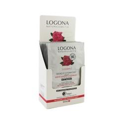 DISPLAY MASCARILLA HIDRATANTE ROSAS BIO & KALPARIANE LOGONA 7,5ML