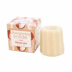 Champú sólido sin aceites esenciales para cabello seco de vainilla y coco - 55 gr Lamazuna