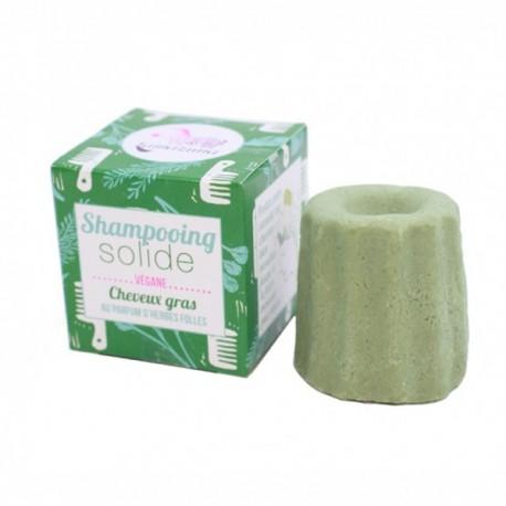 Champú sólido sin aceites esenciales para el cabello gordo con Hierbas Silvestres - 55 gr Lamazuna