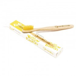 Cepillo de dientes de bambú para niños - Color amarillo de Nordics