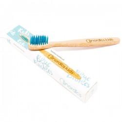 Cepillo de dientes de bambú para niños - Color azul de Nordics