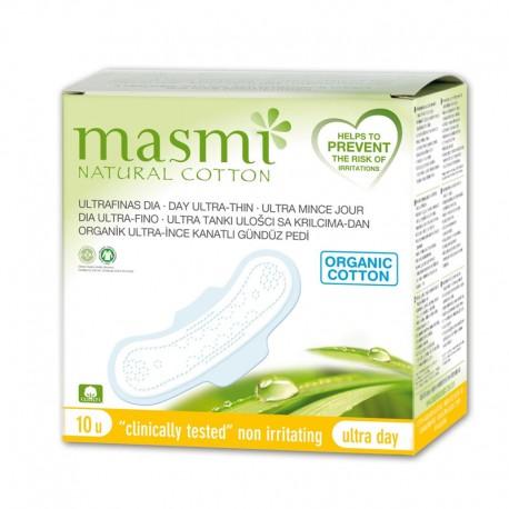 Compresas Masmi de día 100% algodón con alas Bio 10u. (Dietisur)