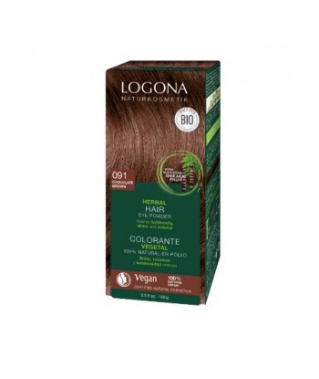 Colorante capilar vegetal castaño café nº 092 de 100gr (Logona)