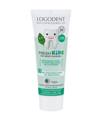 Gel dentífrico menta kids de 50ml (Logona)