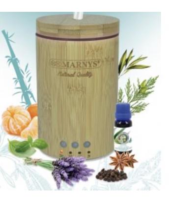 Difusor para aceites esenciales de bambú ultrasónico de 150ml (Marnys)