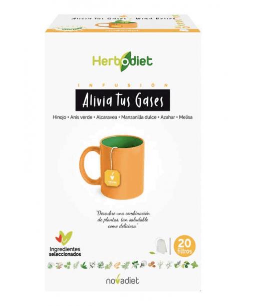 Herbodiet alivia tus gases infusión 20 filtros (Novadiet)