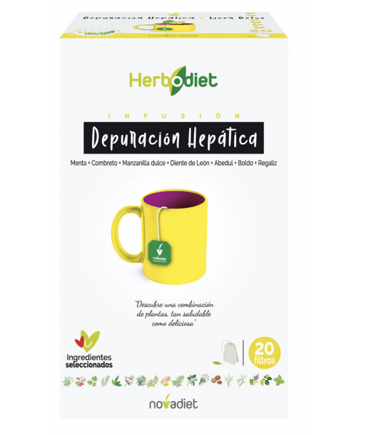 Herbodiet depuración hepática infusión 20 filtros (Novadiet)