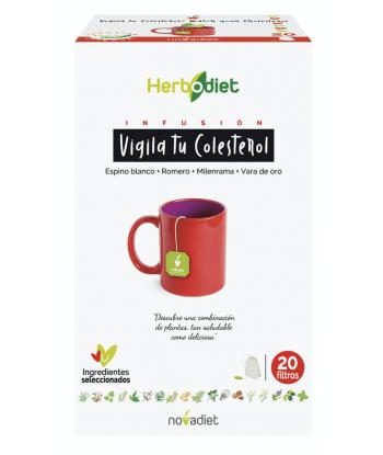 Herbodiet Vigila tu colesterol infusión 20 filtros (Novadiet)