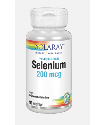 Selenium sin levaduras 200 mcg de 90 vegcaps (Solaray)