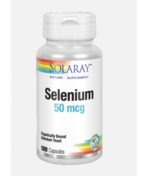 Selenium 50 mcg de 100 vegcaps (Solaray)