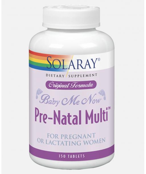 Pre-natal Multi Baby me now de 150 comprimidos (Solaray)