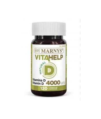 Vitamina D3 4.000 UI - 120 cápsulas Vitahelp (Marnys)