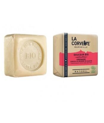 Jabón en pastilla Granada y Karité Bio 100 gr  (La Corvette)