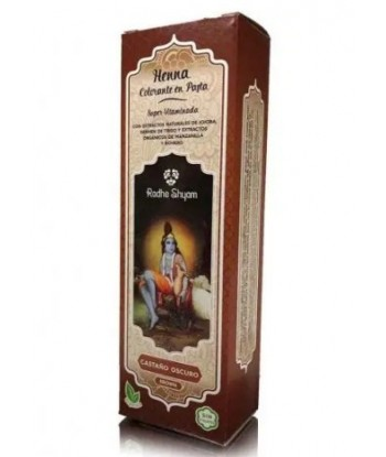 Henna en pasta castaño oscuro 200 ml de Radhe Shyam
