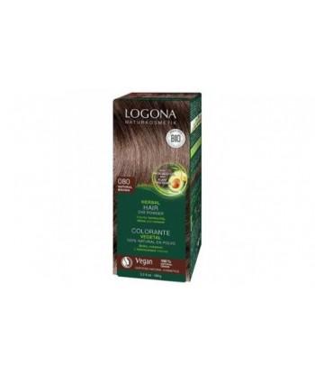 Colorante capilar vegetal castaño dorado nº080 de 100gr (Logona)