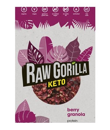 Granola Keto con Frambuesa 250 gramos (Raw Gorilla)