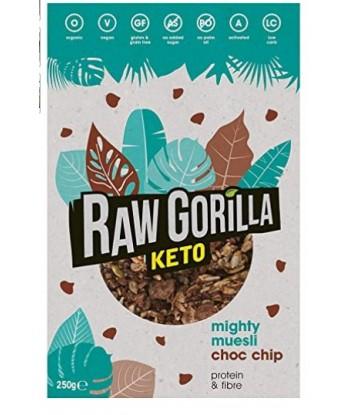 Muesli Keto con Chocolate 250 gramos Bio (Raw Gorilla)