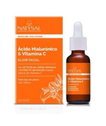 Elixir Facial de Ácido Hialurónico y Vitamina C 15ml (Natysal)