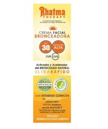 Crema Solar Facial Bronceadora PF 30 60ml  (Rhatma)